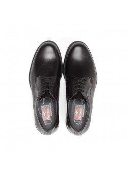 zapato caballero Fluchos, color negro, cordones, modelo 8466, de piel, vista superior