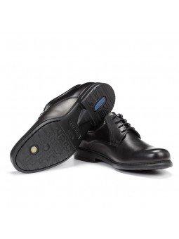 zapato caballero Fluchos, color negro, cordones, modelo 8466, de piel, vista suela