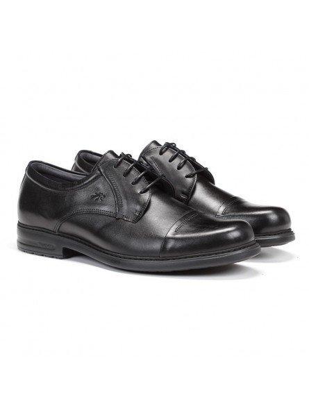 zapato caballero Fluchos, color negro, cordones, modelo 8468, de piel, vista portada