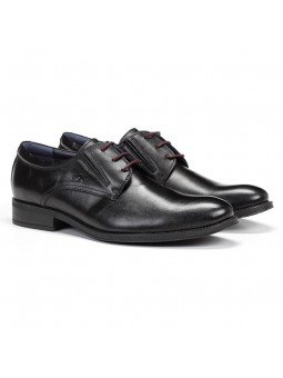 zapato caballero Fluchos, color negro, cordones, modelo 8410, de piel, vista lateral