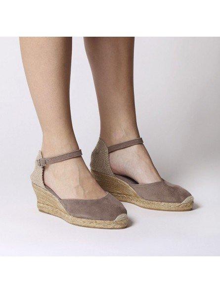 Comprar Online Alpargatas Toni Pons de piel con cuña, modelo Lloret-5, color camel