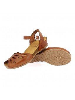 Comprar online sandalia Yokono Shoes, modelo capri 003, color nuez