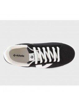 Comprar Online Zapatillas Deportivas Victoria con plataforma, modelo 92125, color negro, vista aerea