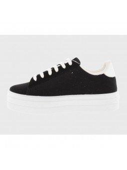 Comprar Online Zapatillas Deportivas Victoria con plataforma, modelo 92125, color negro, vista lateral interior