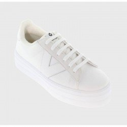 Comprar Online Zapatillas Deportivas Victoria con plataforma, modelo 92125, color blanco