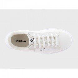 Comprar Online Zapatillas Deportivas Victoria con plataforma, modelo 92125, color blanco, vista aerea