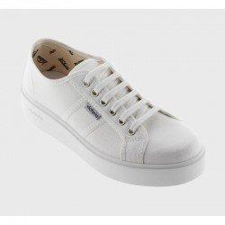 Comprar Online Zapatillas Victoria con plataforma, modelo 260110, color blanco, vista portada