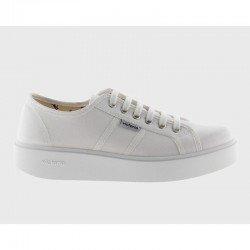 Comprar Online Zapatillas Victoria con plataforma, modelo 260110, color blanco, lateral exterior