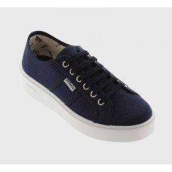 Comprar Online Zapatillas Victoria con plataforma, modelo 260110, color marino