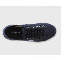 Comprar Online Zapatillas Victoria con plataforma, modelo 260110, color marino, vista aerea
