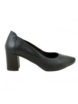 Comprar Online Zapatos Yokono Shoes con tacon ancho, modelo Georgia 002, color negro, vista lateral exterior