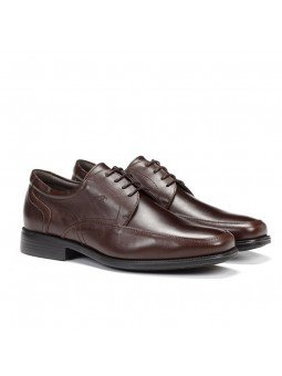 zapato Fluchos hombre, piel , color café marrón, modelo 7995, cierre cordones, vista portada
