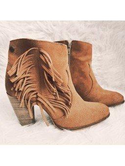 Comprar Online botín Is To Me Atenea con tacón y en serraje, modelo Atenea, color cuero