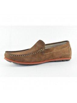 Comprar Online Zapato tipo Mocasín Evoke Fluchos, modelo F0424, color castaño marrón, vista lateral interior