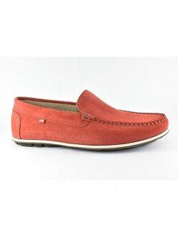 Comprar Online Zapato tipo Mocasín Evoke Fluchos, modelo F0424, color terracota rojo, lateral exterior