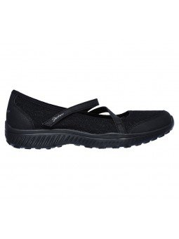 Comprar Mercedita Skechers Be Light Eyes On Me, modelo 23297, color negro BBK, vista lateral exterior