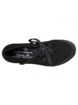 Comprar Mercedita Skechers Be Light Eyes On Me, modelo 23297, color negro BBK, vista aerea