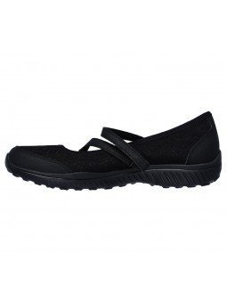 Comprar Mercedita Skechers Be Light Eyes On Me, modelo 23297, color negro BBK, vista lateral interior