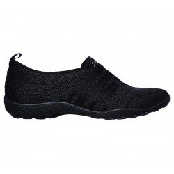 Comprar Online mocasín deportivo Skechers Relaxed Fit Breathe Easy, modelo 100000, color negro BLK, vista lateral exterior