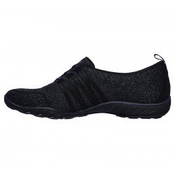Comprar Online mocasín deportivo Skechers Relaxed Fit Breathe Easy, modelo 100000, color negro BLK, vista lateral interior