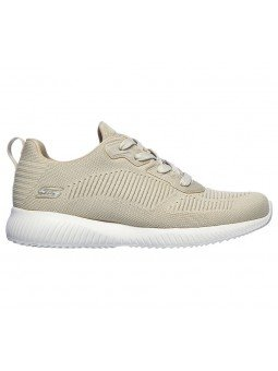 Comprar Online Zapatilla Skechers Sport Bobs Squad Tought Talk, modelo 32504, color natural NAT, vista lateral exterior