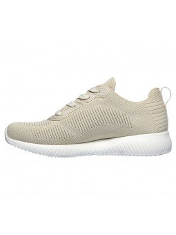 Comprar Online Zapatilla Skechers Sport Bobs Squad Tought Talk, modelo 32504, color natural NAT, vista lateral interior