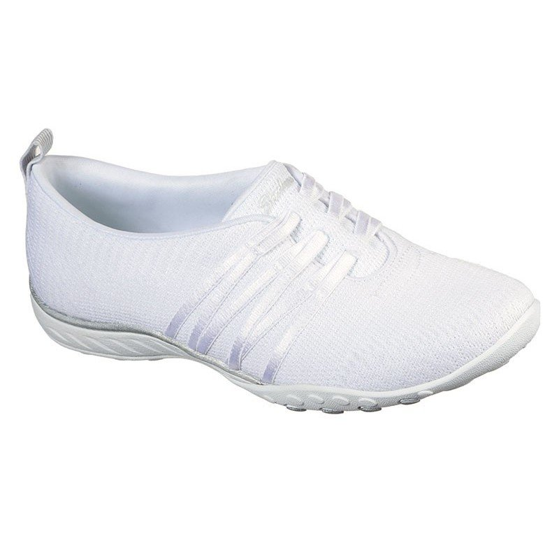 Comprar Online mocasín deportivo Skechers Relaxed Fit Breathe Easy, modelo 100000, color blanco WHT