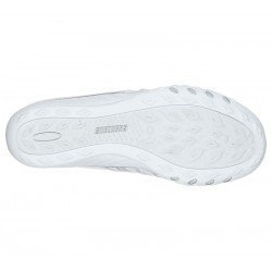Comprar Online mocasín deportivo Skechers Relaxed Fit Breathe Easy, modelo 100000, color blanco WHT, vista de la suela