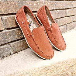 Comprar Online Zapato tipo Mocasín Evoke Fluchos, modelo F0424, color terracota rojo, vista portada