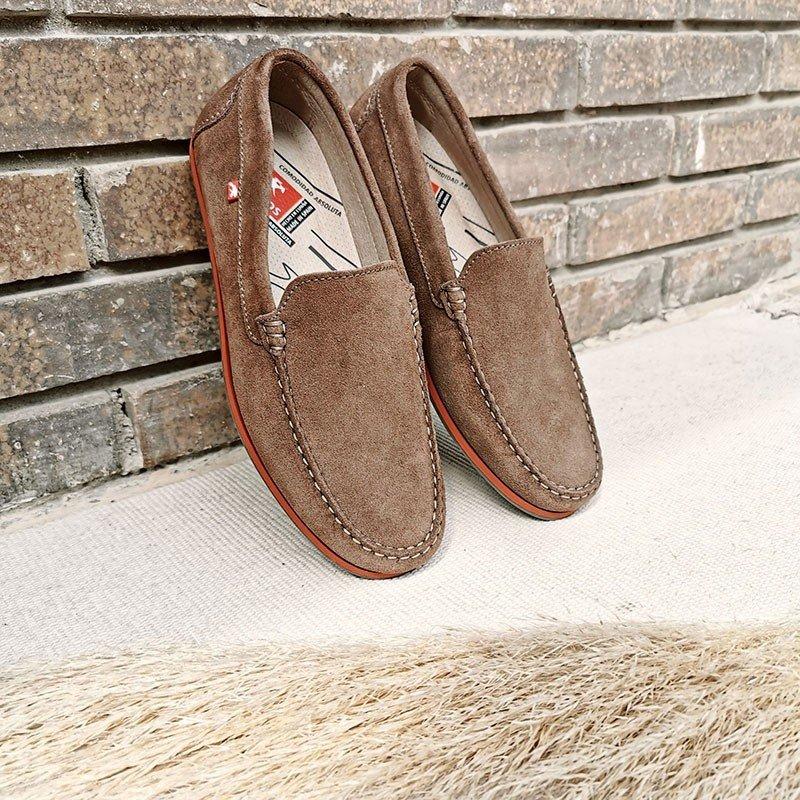 Comprar Online Zapato tipo Mocasín Evoke Fluchos, modelo F0424, color castaño marrón, vista de portada