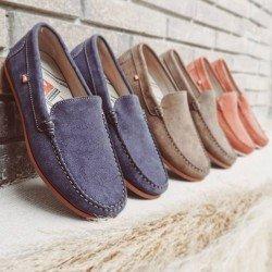 Comprar Online Zapato tipo Mocasín Evoke Fluchos, modelo F0424, color zafiro azul marino, vista portada