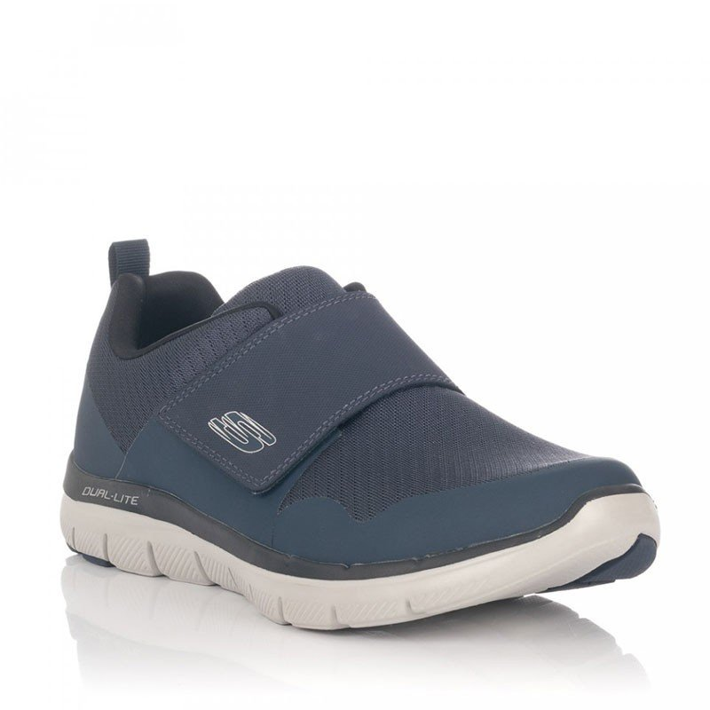 Comprar Zapatillas cOnline on vecro Skechers Flex Advantage 2.0 Gurn, modelo 52183, color gris-negro CCBK