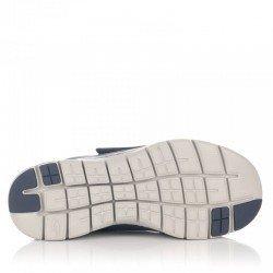 Comprar Zapatillas cOnline on vecro Skechers Flex Advantage 2.0 Gurn, modelo 52183, color gris-negro CCBK, vista de la suela