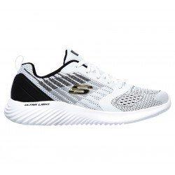 Comprar Online Zapatillas Skechers Sport Verkona, modelo 232004, color blanco-negro WBK, vista lateral exterior