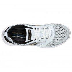 Comprar Online Zapatillas Skechers Sport Verkona, modelo 232004, color blanco-negro WBK, vista aerea