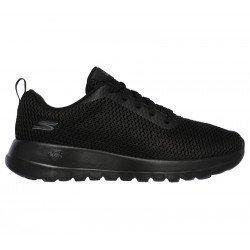 Comprar Online Zapatillas Skechers Performance Go Walk Joy Paradise, modelo 15601, color negro BBK, vista lateral exterior