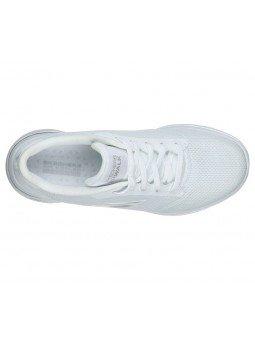 Comprar Online Zapatillas Skechers Go Walk 5 Lucky, modelo 15902, color blanco WHT, portada, vista aerea
