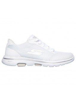 Comprar Online Zapatillas Skechers Go Walk 5 Lucky, modelo 15902, color blanco WHT, portada, vista lateral exterior