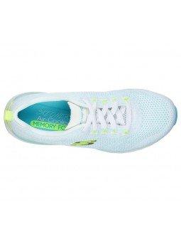 Comprar Online Zapatillas Skechers Ultra Groove, modelo 149019, color blanco WTQL, vista portada, vista aerea