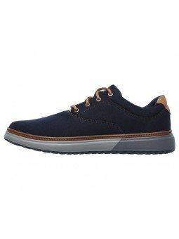 Comprar Online Zapatos casual Skechers Classic Fit Folten Verone, modelo 65370, color marino NVY, vista lateral interior