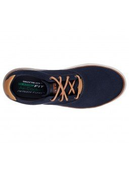 Comprar Online Zapatos casual Skechers Classic Fit Folten Verone, modelo 65370, color marino NVY, vista aerea