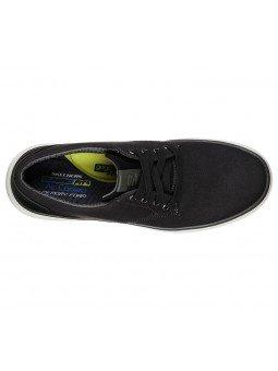 Comprar Online zapatos Skechers Classic Fit Moreno Ederson, modelo 65981, color negro BLK, vista aerea