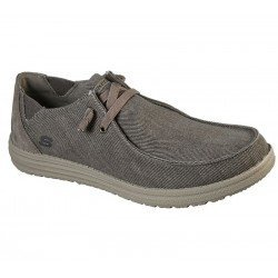 Comprar Online Zapatos Skechers Relaxed Fit Streetwear Melson Raymon tipo mocasín, color caqui KHK, modelo 66387