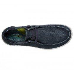 Comprar Online Zapatos Skechers Relaxed Fit Melson Raymon tipo mocasín, color azul BLU, modelo 66387, vista aerea