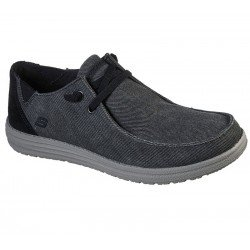 Comprar Online Zapatos Skechers Relaxed Fit Streetwear Melson Raymon tipo mocasín, color negro BLK, modelo 66387