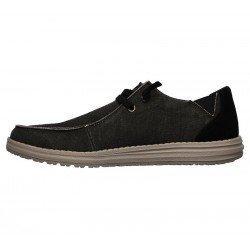 Comprar Online Zapatos Skechers Relaxed Fit Melson Raymon tipo mocasín, color negro BLK, modelo 66387, vista lateral interior