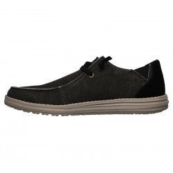 Comprar Online Zapatos Skechers Relaxed Fit Melson Raymon tipo mocasín, color negro BLK, modelo 66387, vista lateral interior