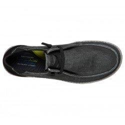 Comprar Online Zapatos Skechers Relaxed Fit Melson Raymon tipo mocasín, color negro BLK, modelo 66387, vista aerea