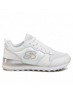 Comprar Online Sneakers Skechers Originals OG 85, modelo 111, color blanco WSL, vista lateral exterior