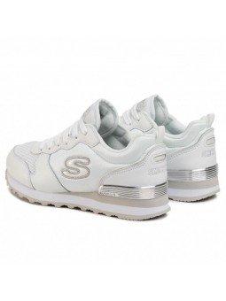 Comprar Online Sneakers Skechers Originals OG 85, modelo 111, color blanco WSL, vista del talón